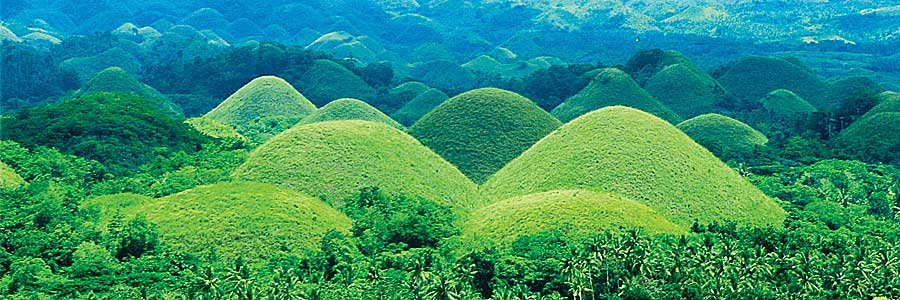 The world-famous Chocolate Hills