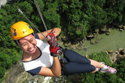 Ziplining is on the Danao Extreme Adventure Tour
